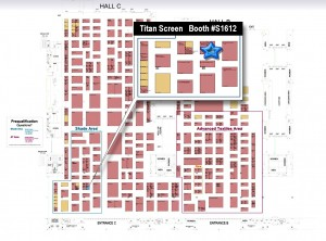 Directory to Titan Screen booth at IFAI Expo 2015 copy