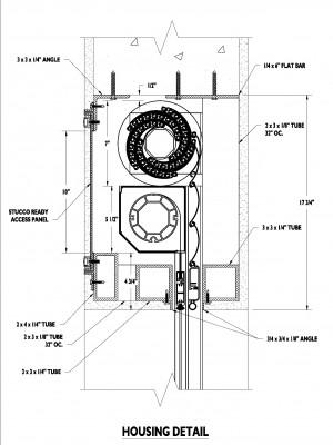 S15391 Titan Screen Buil-in housing detail