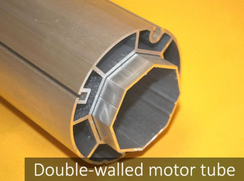Double-walled motor tube