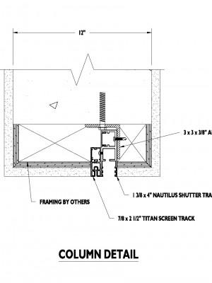 S15391 Titan Screen Buil-in column detail
